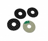 1up Carbon Fiber Body Washers - Adhesive Backed - 1/8 On-Road - (4 Pack)