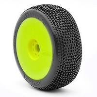 1:8 BUGGY IMPACT SUPER SOFT EVO WHEEL PRE-MOUNTED YELLOW