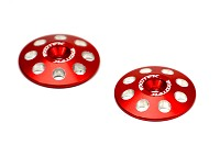 1665 1/8 XL WING BUTTONS, 22mm (2) Red