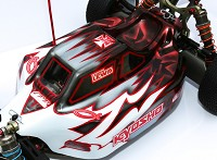 Leadfinger LFR Assassin body (clear) for Kyosho MP9 electric buggy
