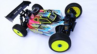 Leadfinger LFR Assassin body (clear) for Associated RC8B3 Soar 998 TD1