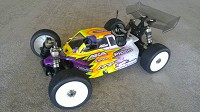 Leadfinger LFR A2 Tactic body (clear) for Serpent SRX8 nitro buggy